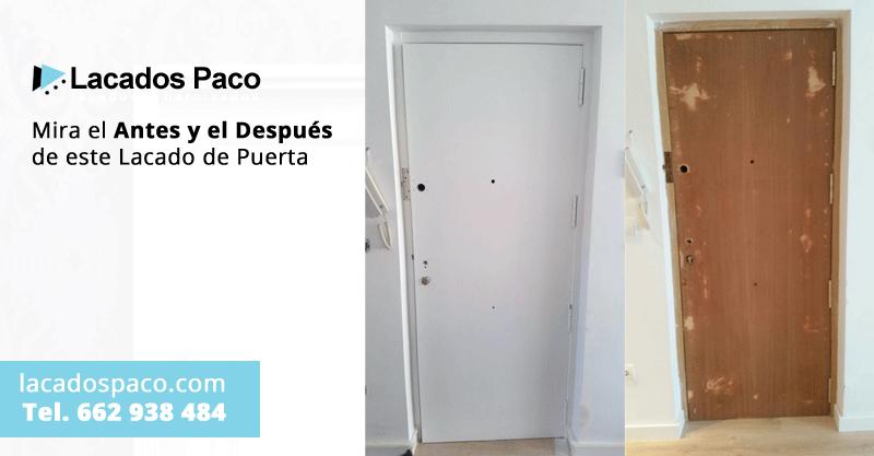 Lacado de puertas antes y despu s lacados paco alicante for Pintar cristales de puertas